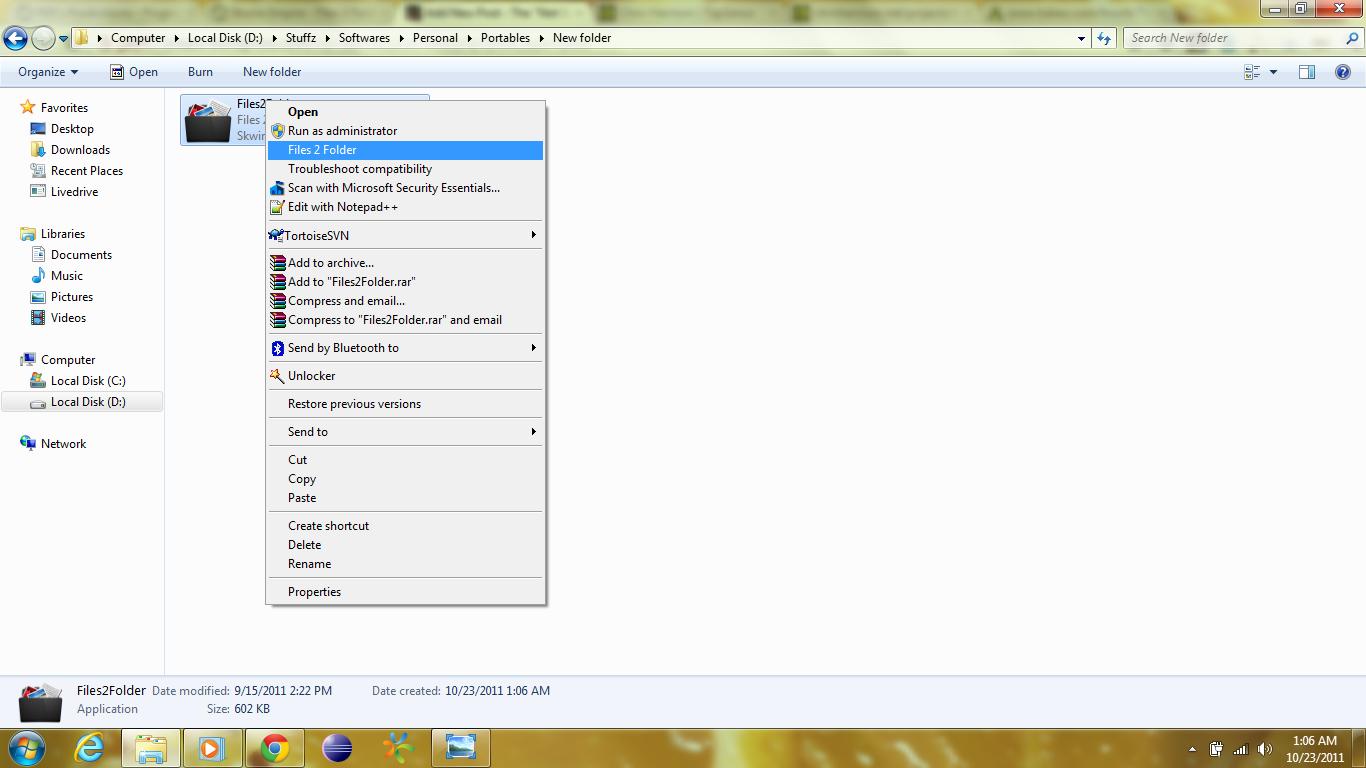 Files2Folder create folder