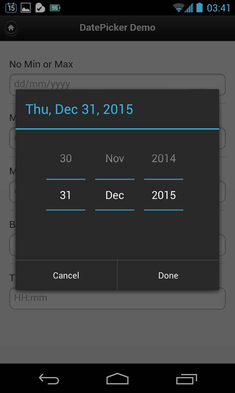 A Better Android DatePicker Plug-in for Cordova – The